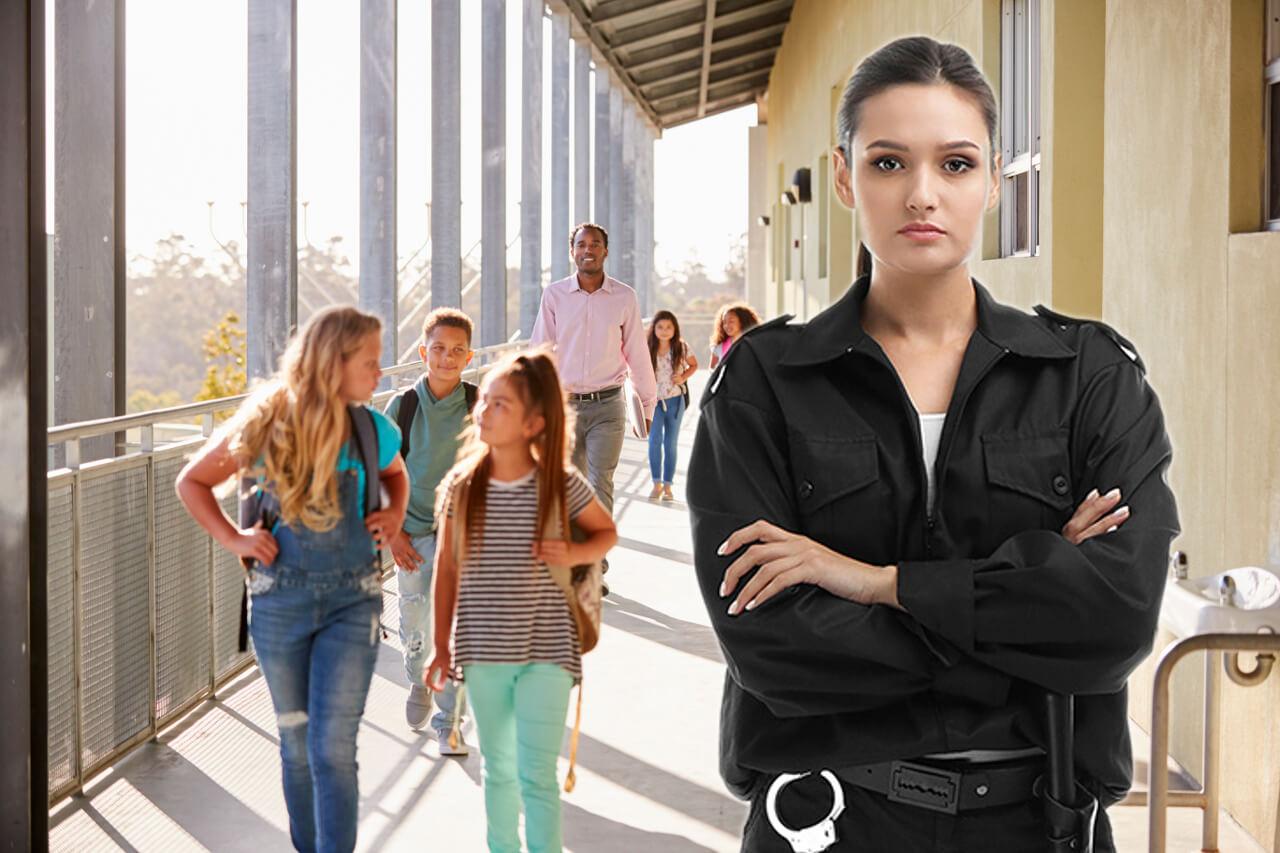 Guardia de seguridad escolar y de campus