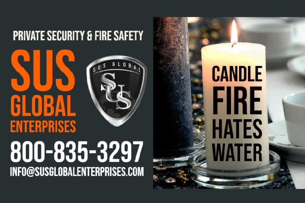 Candle Fire Hates Water